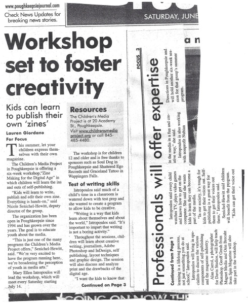 POJO Zine Workshop article 2007