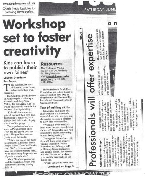 POJO Zine Workshop article 2007